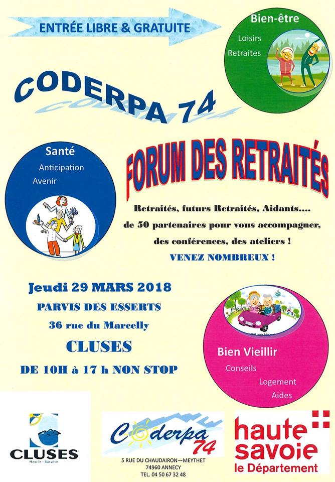 Forum des retraités et pré-retraités – Cluses Jeudi 29 Mars 2018